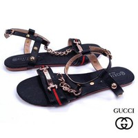 GUCCI Women Casual Stripe Flats Sandals Shoes Day-First™