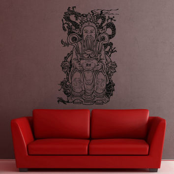 I161 Wall Decal Vinyl Sticker Art Decor Design buddha pattern indium faith beautifully east Ganesh Feng Shui teachings hieroglyph