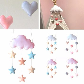 1pc Kids Hanging Cloud Decor Star Heart Baby Bed Children Nursery Room Hanging Props Decorative Wall Sticker Mayitr New