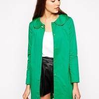 Traffic People | Traffic People Everyone Loves Rainbows Coat with Brooch Detail at ASOS