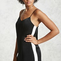 Side-Stripe Slip Dress