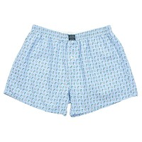 Mint Julep & Horseshoes Hanover Boxer in Light Blue by Southern Marsh
