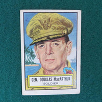 1952-Topps Look 'n See #32 Douglas-MacArthur Card, Military Leaders Non Sports Card, Collectible Card