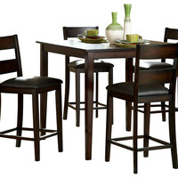Homelegance Griffin 5-Piece Counter Dining Room Set in Deep Espresso - Traditional - Indoor Pub And Bistro Sets - by Beyond Stores