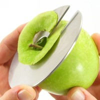 Giro Stainless steel apple slicer designed by Christina Schaffer for mono