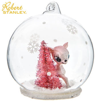 Deer & Tree Snow Globe Ornament | Hobby Lobby