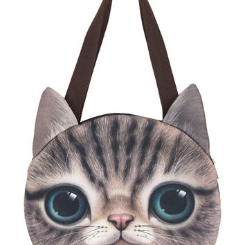 Green Eyes Cat Shoulder Bag