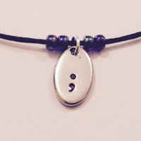 Semicolon choker necklace | Semi colon jewellery | awareness gift | Mental health awareness | Semicolon project |