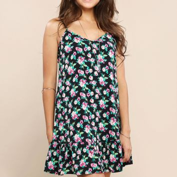 Rose Pattern Cami Dress