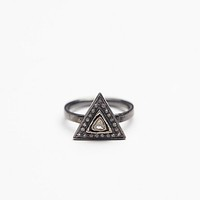 Zoe Chicco Womens Diamond Triangle Ring - Silver 6