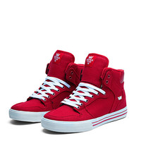 SUPRA VAIDER Shoe   RED - WHITE   Official SUPRA Footwear Site