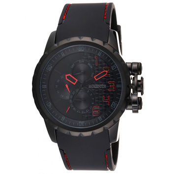 Momentus FS118E-05BB Men's Functional Sport Quartz Black Dial Black Rubber Strap Watch