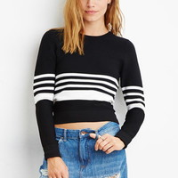 Contemporary Textured Stripe Sweater