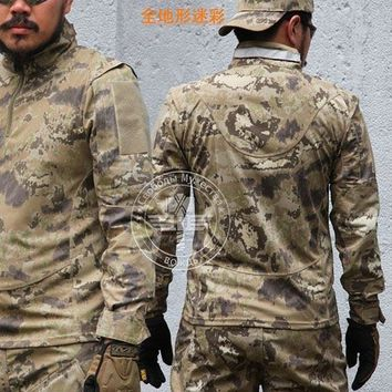 New Breathable Army Tactical Jacket Outdoor Hunting Military Mens Camouflage Shirts