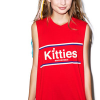 Cool Cats Club Tasty Rainbows Muscle Tee Cherry One