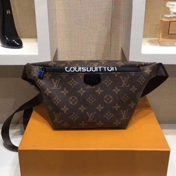 LV Louis Vuitton Women Leather Waist bag Shoulder Bag Crossbody