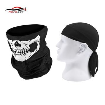 HEROBIKER Motorcycle Mask Biker Balaclava Men Face Shield Quick Dry Motorcycle Skull Caps Helmet Headwrap Maske Bandana Headband