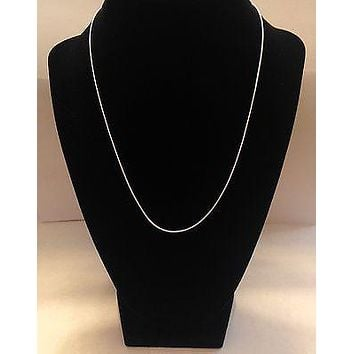 18 inches Sterling Silver Plated Necklace