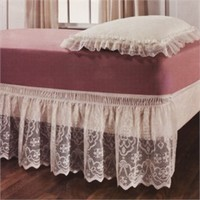 Lace Elastic Wrap Around Bed Ruffle - Bedskirt - Dust Ruffles by Madison
