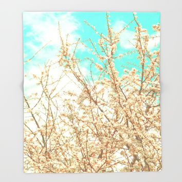 Blossoms Throw Blanket by ARTbyJWP