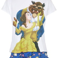 Beauty and the Beast Pajama Set - Blue