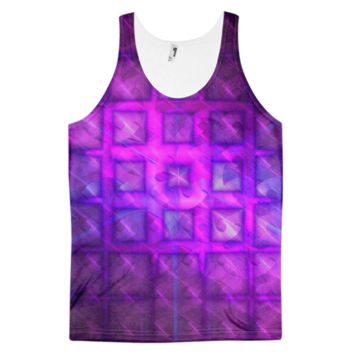Shiny Square Buttons || Classic fit tank top (unisex) — Future Life Fashion