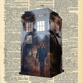Doctor Who Dictionary Art Print