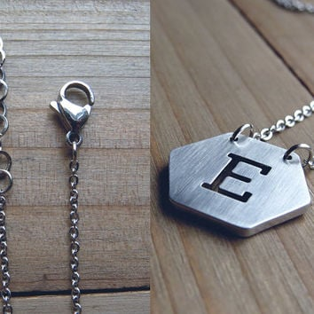 Personalized Initial necklace / initial necklace / Stainless steel necklace / personalized jewelry