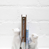 Danya B Leisure Cats Bookends