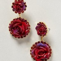 Bermuda Rose Drops by Anthropologie in Gold Size: One Size Earrings