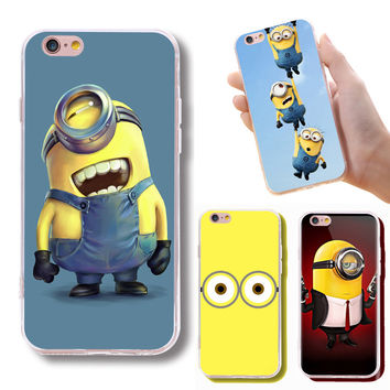 Hot Sale Cute Yellow Minions Back Cover For iPhone 7
