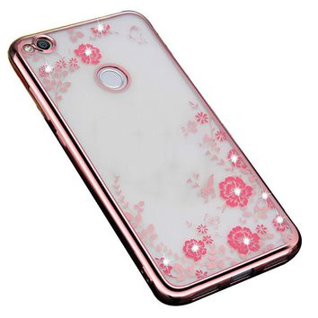 Innovation Soft Secret Garden Flower Painted Case For Huawei P8 Lite 2017 / Honor 8 Lite Plating Phone Back Cover Fundas Capa