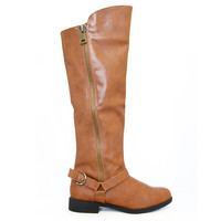 Cognac Turner-13 Knee High Boots
