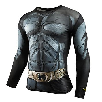 Men Crossfit Long Sleeve Compression Shirt 3D