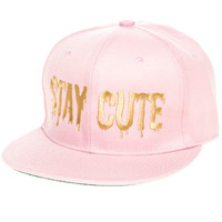 The Color Logo Snapback in Pink