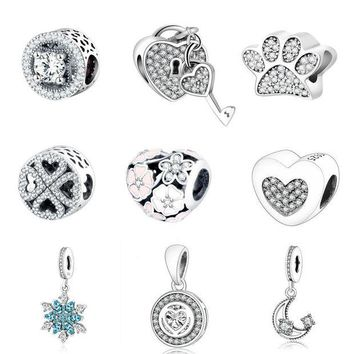 VON3TL Pandora Charms Orignal Bracelet 100% 925 Sterling Silver Charm Beads For Mother Gift DIY Jewelry Factory Price