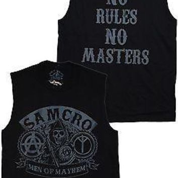 Sons Of Anarchy No Rules No Masters Men of Mayhem T-Shirt Officially Licensed Ad
