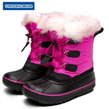 Frozenbear winter Children girls  Soft snow boots