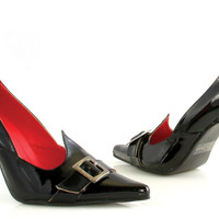 costume shoes: witch pump - black | size: 7