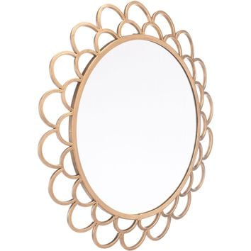 Gold Rani Circular Wall Mirror, Small