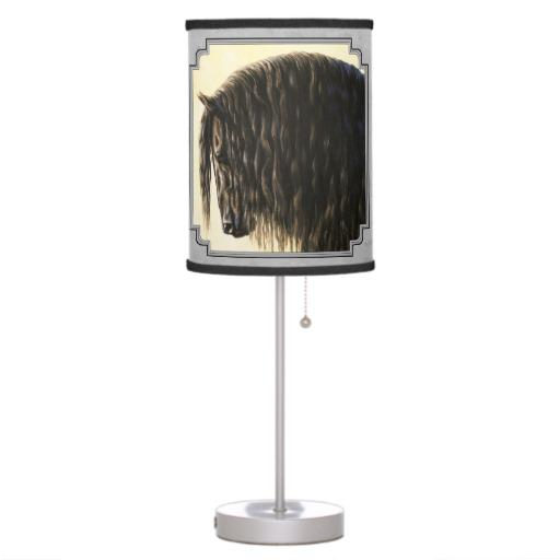friesian draft horse silver gray table from zazzle horses. Black Bedroom Furniture Sets. Home Design Ideas