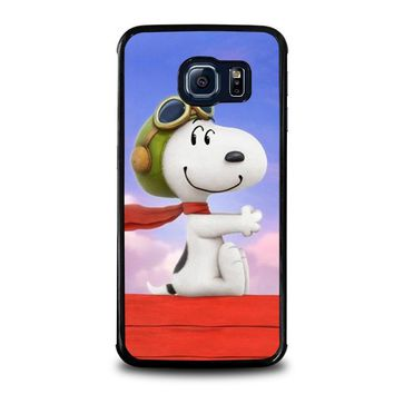 snoopy dog samsung galaxy s6 edge case cover  number 1