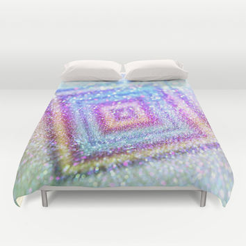 diamond glitter Duvet Cover by Haroulita