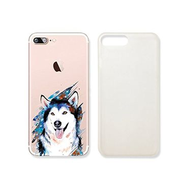 Cute Wolf Slim Iphone 7 Case, Clear Iphone 7 Hard Cover Case For Apple Iphone 7 -Emerishop (iphone 7)