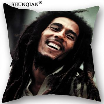 Best Bob Marley Pillowcase Wedding Decorative Pillow Cover Custom Gift For (Two Sides) Printed Pillow Cases 18-315