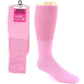 Kids Pink Football Socks - Breast Cancer Awareness
