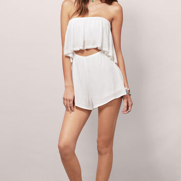 Ready to Rumble Strapless Romper $58