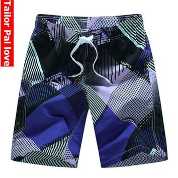 Mens Board Shorts for Summer Surf Beach Swim Bermuda Style Quick Dry Boardshorts