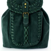 Chicwish Green Knit Backpack Green