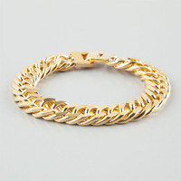 The Gold Gods Gold Cuban Link Bracelet Gold One Size For Men 25323062101